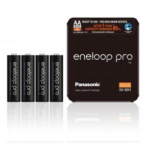 Laddbara stavbatterier AA  Eneloop Pro, 4-pack 2500 mAh