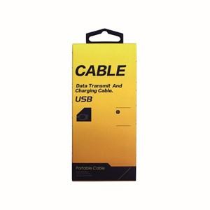 Ladd-synkkabel typ  USB till Micro USB high speed, 1m grå väv