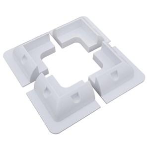 Hörnbeslag ABS vit 4-pack