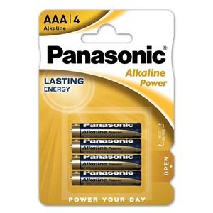Stavbatteri Panasonic Alkaline Power 1,5V AAA LR03 4-pack