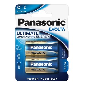 Stavbatteri Panasonic Evolta High Premium 1,5V C LR14 2-pack