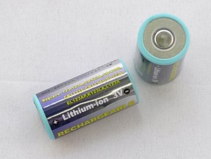 Laddbart CR123A, 550 mAh