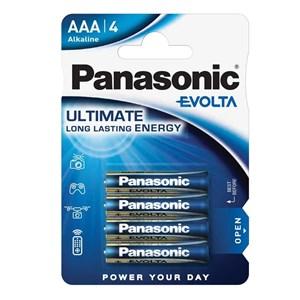 Stavbatteri Panasonic Evolta High Premium 1,5V AAA LR03 4-pack