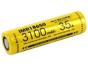 Batteri Nitecore 18650, Li-Ion 3,7V, 3100 mAh