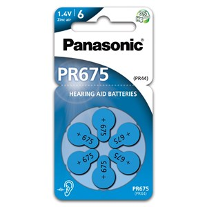 Hörapparatsbatteri Panasonic 675