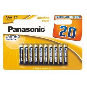 Stavbatteri Panasonic Alkaline Power 1,5V AAA LR03 20-pack