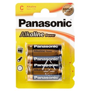 Stavbatteri Panasonic Alkaline Power 1,5V C LR14 2-pack