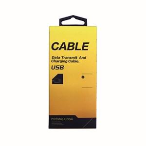 Ladd-synkkabel typ C-3, USB till Micro USB, 2m antracit väv