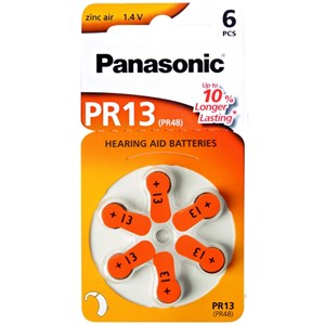 Hörapparatsbatteri Panasonic PR13