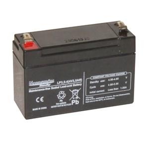 Blybatteri slutet 4V 3,5Ah, T1