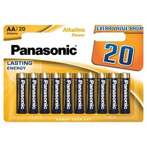 Stavbatteri Panasonic Alkaline Power 1,5V AA LR6 20-pack