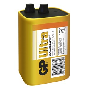 Stavbatteri alkalisk  6v med fjäder