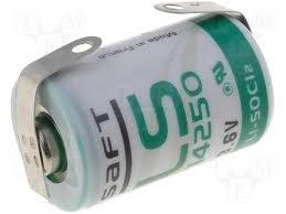 Batteri 1/2 AA 3,6V med lödbleck