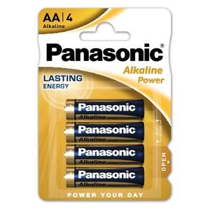 Stavbatteri Panasonic Alkaline Power 1,5V AA LR6 4-pack