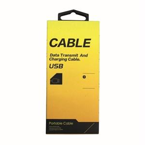 Ladd-synkkabel typ C-2, USB till Micro USB, 1m grå väv