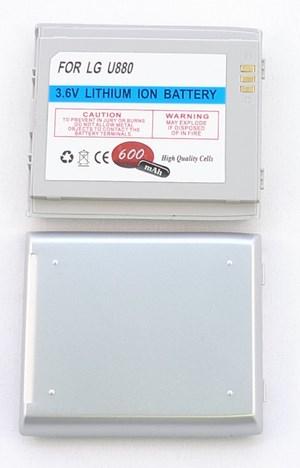 LG U880 silver