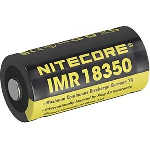 Batteri Nitecore 18350, Li-Ion 3,7V