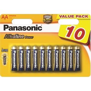 Stavbatteri Panasonic Alkaline Power 1,5V AA LR6 10-pack