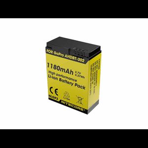 Batteri Nitecore GoPro Li-Ion 3,7V, 1180 mAh