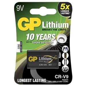 Stavbatteri 9V Litium Longlife